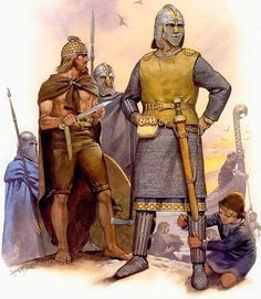 Another remarkable example of the blending of Germanic and Christian traditions is the longest surviving Anglo-Saxon poem, the epic Beowulf. Description from epicworldhistory.blogspot.com. I searched for this on bing.com/images