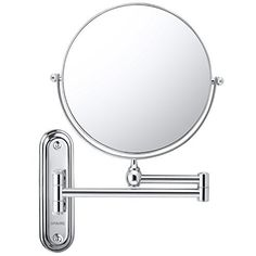 Spaire 7X Wall Mounted Bathroom Makeup Mirror The Spaire 7x Wall Mounted Bathroom Makeup Mirror has 8-inch diameter and features a smooth 360-degree swivel design that is adjustable to view at any angle. 7X magnifying mirror and 1X regular mirror The powerful 7x magnification is suitable for... more details available at https://furniture.bestselleroutlets.com/bathroom-furniture/bathroom-sets/product-review-for-spaire-bathroom-mirror-8-inch-7x1x-magnifying-double-sided-wall-mo
