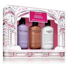 Philosophy's Sugar Plum Fairy Duo comforts and conditions in two luxurious formulas: shampoo, shower gel & bubble bath and body lotion. Marshmallow Buttercream, Pink Marshmallows, Just In Case, Just For You, Sugar Plum Fairy, Holly Berries, Shower Gel, Body Lotion, Bath And Body