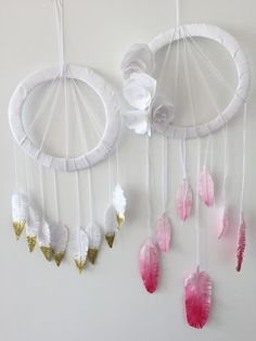 How to Make a Paper Dream Catcher This dream catcher is a really stunning piece to decorate the house, bedroom, or kids room with. This dream catcher is easy peesy to make. It's great because you are likely to have a lot of the materials lying around the house, so it's quite affordable too. DIY Dream Catcher DIY Crafts Arts and Crafts Paper Dream Catcher Glitter Dream Catcher Cheap Dream Catcher
