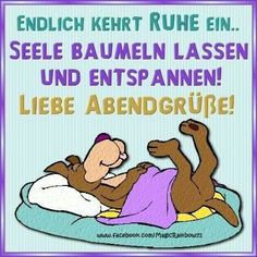 Schönen Abend Good Day, Good Night, Good Morning, Gifs, Night Wishes, E Cards, Haha, Disney Characters, Fictional Characters