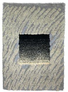 Lumituisku, suunnittelija Jukka Vesterinen koko 108 x 165 cm Rya Rug, Weaving, Textiles, Symbols, Kilims, Rugs, Carpets, Fiber, Base