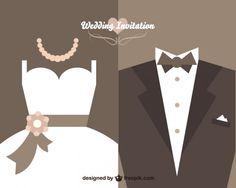 Projeto do convite de casamento do vintage do vetor | Baixar vetores grátis