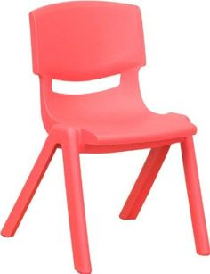 Amazon.com - Flash Furniture YU-YCX-001-BLUE-GG Blue Plastic Stackable School Chair with 12-Inch Seat Height - Stacking Chairs - $19