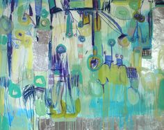 """Michelle Armas, Capricia, 48"""" by 60"""" mixed media on gallery wrap, 2650"""