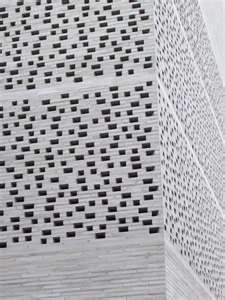 Wall perforations at Peter Zumthor's Kolumba Museum in Cologne, Germany.