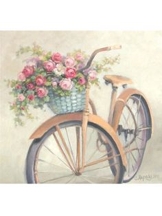 I truly want a bike like this WITH the flower basket!