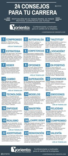 24 Consejos para tu carrera profesional www.yoriento.com