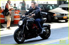 Dear baby jesus....this man on a motorcycle.