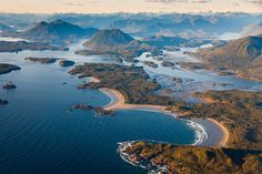 Tofino Beach Aerials Photos: Tofino Village, Clayoquot Sound Aerial Photography. GoTofino.Com Tofino Photo Galleries.