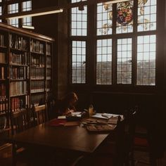 """cozycupofcoffee: """"What a lovely day for a study session in the Hogwarts Library ⚡️ """""""