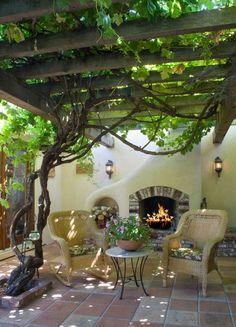 Patio Grapevine Arbor Design, Pictures, Remodel, Decor and Ideas
