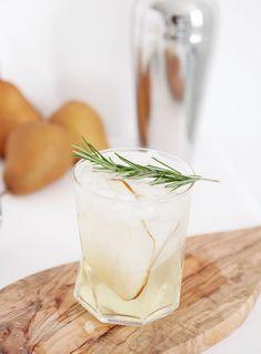 pear rosemary spritzer