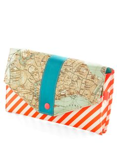 Here and Canal Travel Wallet..love the map but not the orange