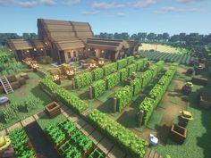 Minecraft Garden, Minecraft Cottage, Minecraft Farm, Cute Minecraft Houses, Minecraft House Tutorials, Minecraft Medieval, Minecraft Plans, Minecraft House Designs, Amazing Minecraft