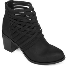 Arizona Orlando Woven Ankle Booties ($40) ❤ liked on Polyvore featuring  shoes, boots