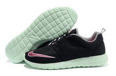 reputable site b09d5 5c08f Black Pink Flash Fresh Mint Chrome Nike Roshe Run FB Men's Shoes Nikes They  would be