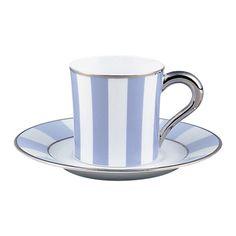 ベルナルド[BERNARDAUD] ギャラリーロワイヤルブルーワリス コーヒーカップ&ソーサー