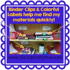 Hello Mrs Sykes - Resources for Teachers: Bright Ideas - Cheap Way to Tame the Clutter!