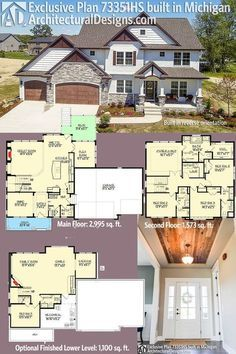 Our client built Exclusive House Plan 73351HS in reverse orientation in Michigan. The home gives you 4 beds, 3.5 baths and over 2,800 sq. ft. of heated living space PLUS an optional finished lower leve (1,100 sq. ft.). Ready when you are. Where do YOU want to build? #73351HS #adhouseplans #architecturaldesigns #houseplan #architecture #newhome #newconstruction #newhouse #homedesign #dreamhome #dreamhouse #homeplan #architecture #architect #craftsmanhouse #craftsmanplan #craftsmanhome