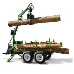 LX115W/LT60 Log Trailer/Grapple Package