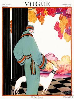 Vogue 1922 - color dog