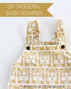 DIY modern baby romper how to make a modern baby boy romper Sewing Baby Clothes, Baby Clothes Patterns, Diy Clothes, Baby Boys, Boys Sewing Patterns, Baby Boy Accessories, Diy Bebe, Baby Boy Romper, Baby Rompers