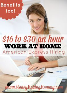American Express Work From Home Jobs If you're looking for a real work at home career opportunity - this just might be the one for YOU! American Express is hiring full-time with benefits. Get all the details, the qualifications, pay and more. Earn Money From Home, Way To Make Money, Make Money Online, Money Fast, Mo Money, Cash Money, Free Money, Work From Home Opportunities, Work From Home Jobs