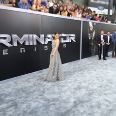 Glamorous @Emilia_Clarke at the #TerminatorGenisys premiere in Hollywood.