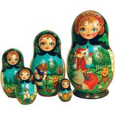 Ginger Bread Russian Nesting Dolls