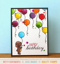 Bear Birthday Card created by designer Kristie Larsen using the Sweet Stamp Shop Beary Much and Happy Birthday stamp sets #sssbearymuch #ssshappybirthday