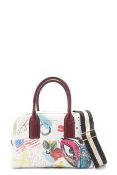 Collage Printed Leather Bauletto