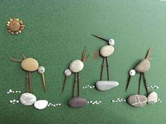 813 images about Kreativ - Rock / Stone / Pebble Art on We Heart It Sea Glass Crafts, Sea Glass Art, Shell Crafts, Pebble Painting, Pebble Art, Stone Painting, Hobbies And Crafts, Diy And Crafts, Crafts For Kids