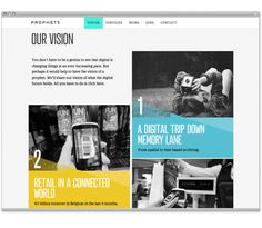 prophets corporate site by Petra Sell, via Behance