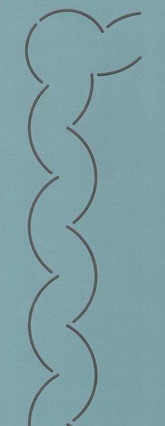 """Double Scallop Border 2.5"""" - The Stencil Company"""