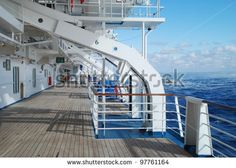stock pictures of the deck on a cruise ship - stock photo