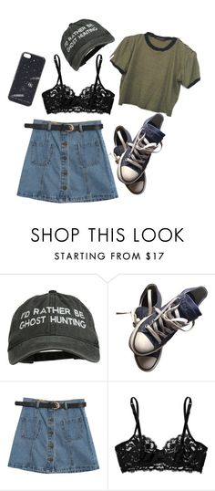 """""""if only you knew that I'm just like you"""" by poisonedblackberries ❤ liked on Polyvore featuring Converse, Chicnova Fashion, La Perla and Marc by Marc Jacobs"""