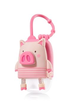 Pig - PocketBac Holder - Bath & Body Works - Fighting germs has never looked so cute! This convenient holder attaches to your backpack, purse & more so you can always keep your favorite PocketBac close at hand.