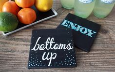 We picked these ten examples of coasters to inspire you to make your own, so go get the needed materials and have fun! #diy