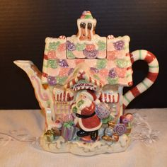 Fitz and Floyd Candy Lane Express Teapot by ShellysSelectSalvage
