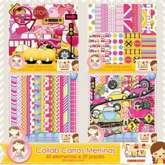 Collab carros meninas com Lu Ifanger http://acriativo.com/loja/index.php?main_page=product_info=34_id=709