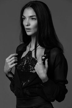 La Perla campaign star, model Mariacarla Boscono