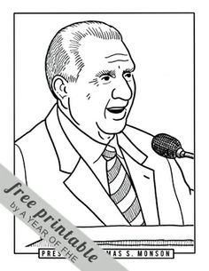 president monson coloring page.html