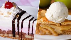 17 Tasty Pie Recipes - Cool cooking videos and recipes Healthy Desserts, Delicious Desserts, Yummy Food, Healthy Recipes, Cream Pie Recipes, Pastry Recipes, Easy Waffle Recipe No Milk, Candy Recipes, Sweet Recipes