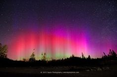 Northern Lights At Pemaquid Point Light @ 5:05 AM March 17, 2013. www.miketaylorphoto.com