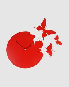Ooh! Butterfly clock