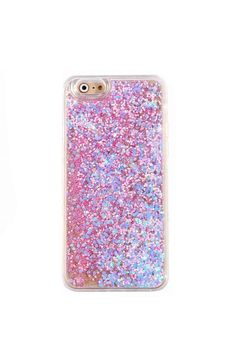 Featuring a clear layer riddled with colorful pink holographic glitter, this unique phone case is sure to make heads turn! This cute protective iPhone cover provides a hard shell between your precious cell phone and the outside world, keep your favorite piece of technology safe and sound. Full Protection: Comes with full 360 degree bumper protection with access to all ports as well as a front raised lip to protect your phone screen.   Holographic Glitter Iphone6 Case by Velvet Caviar…