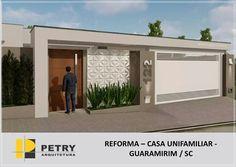 Best 12 56 ideas house facade render home for 2019 – SkillOfKing. House Gate Design, Gate House, House Entrance, Facade House, Modern House Design, Door Design, Front Wall Design, Exterior Wall Design, House Paint Exterior