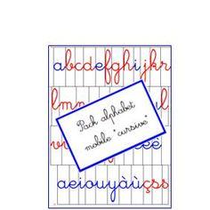 Pack alphabet mobile «cursive»