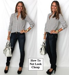 HOW NOT TO LOOK CHEAP. There is a huge difference in dressing cheap, and dressing on a budget. Here's how to spend the same amount of money, but make sure you never cross into cheap territory.